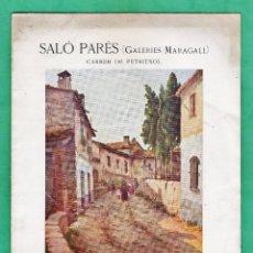 Arte: CATALOGO / INVITACION - EXPOSICIO PINTURES - A. PLANAS-DORIA - SALO PARES / MARAGALL / BCN- AÑO 1929. Lote 45016367