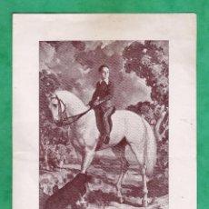 Arte: CATALOGO / INVITACION - EXPOSICION PINTURAS - MORELL - SALA GASPAR / BCN - AÑO 1943. Lote 45016396