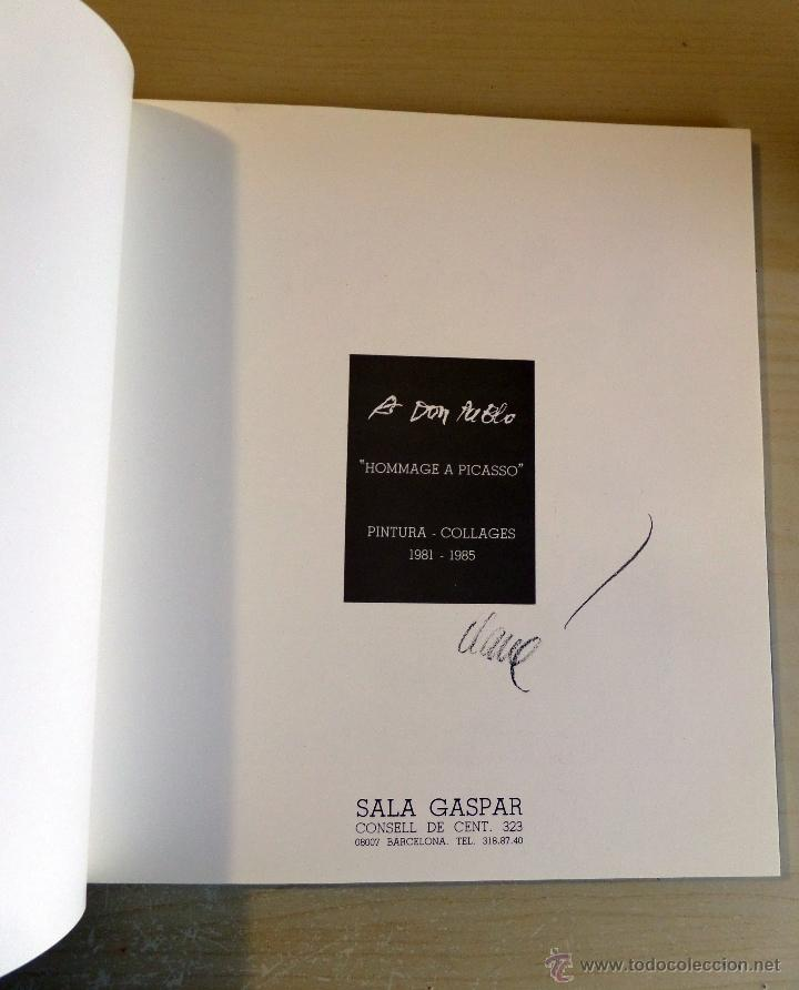Arte: Pintor Antoni Clavé, Homenaje a Picasso, Sala Gaspar de Barcelona, año 1985. - Foto 2 - 45036028