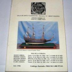 Arte: CATALOGO DE SUBASTAS DURAN NUMERO 247 MAYO 1990. Lote 45111522