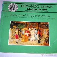 Arte: CATALOGO DE SUBASTA FERNANDO DURAN 30 ABRIL 1985. Lote 45117404