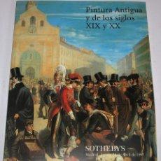 Arte: CATALOGO DE SUBASTA SOTHEBY´S 24 ABRIL 1997,PINTURA SIGLOS XIX Y XX. Lote 45117767