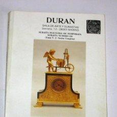 Arte: CATALOGO DE SUBASTAS DURAN Nº 250 OCTUBRE 1990. Lote 45122496