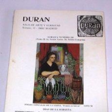 Arte: CATALOGO DE SUBASTAS DURAN NUMERO 241 DICIEMBRE 1989. Lote 45122568