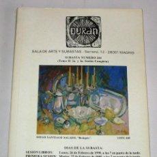 Arte: CATALOGO DE SUBASTAS DURAN NUMERO 244 FEBRERO 1990. Lote 45122617