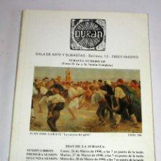 Arte: CATALOGO DE SUBASTAS DURAN NUMERO 245 MARZO 1990. Lote 45122672