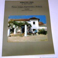 Arte: CATALOGO DE SUBASTA EDMUND PEEL & ASOCIADOS 27 JUNIO. 1991. Lote 45122978