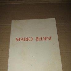 Arte: ANTIGUO CATALOGO OBRAS DE MARIO BEDINI EN CAJA DE AHORROS DE SALAMANCA DEL AÑO 1968. Lote 45260579