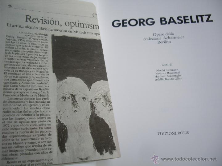 Arte: GEORG BASELITZ catálogo Expo Milan , Edizioni Bolis 1991 - Foto 2 - 45354696
