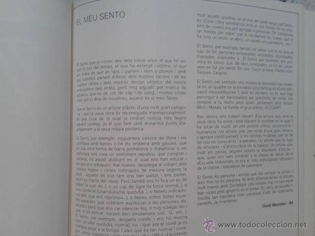 Arte: interesante catálogo SENTO MASIÀ. CENTRE CULTURAL D´ALCOI. año 1984 - Foto 4 - 46437981
