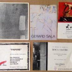 Arte: LOTE 4 INVITACIONES Y 1 CATÁLOGO EXPOSICIONES -GERARD SALA, ROCA- SASTRE, PILAR PERDICES. Lote 47731640