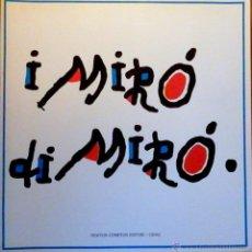 Arte: I MIRÓ DI MIRO, ACADEMIA DI SPAGNA ROMA 1989. Lote 48273179