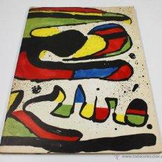 Arte: MIRÓ, HOMENATGE A GAUDÍ, JUNY 1979. 23X32CM. GALERIA MAEGHT, BARCELONA.. Lote 48386932