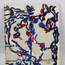Arte: JEAN PAUL RIOPELLE, GALERIA MAEGHT, BARCELONA 1975. 23X32 CM.. Lote 48387301