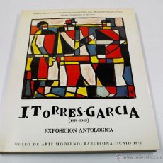 Arte: TORRES-GARCIA, EXPOSICI´ÓN ANTOLOGICA, JUNIO 1973. MUSEO ARTE MODERNO BARCELONA. 20X25CM. Lote 48491922