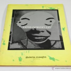 Arte: LUÍS GORDILLO, GALERÍA MAEGHT OCTUBRE 1976. 23X32 CM. Lote 48608509