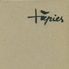 Arte: ANTONI TÀPIES. OBRA RECIENTE. SALA GASPAR. BARCELONA 1960. Lote 48912768