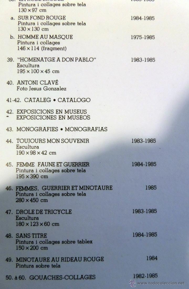 Arte: Pintor Antoni Clavé, Homenaje a Picasso, Sala Gaspar de Barcelona, año 1985. - Foto 12 - 45036028