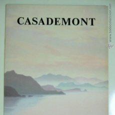 Arte: CATÁLOGO INVITACIÓN EXPOSICIÓN PINTOR FRANCESC CASADEMONT 1992 GALERÍA ARTE SALA NONELL BARCELONA. Lote 49056291