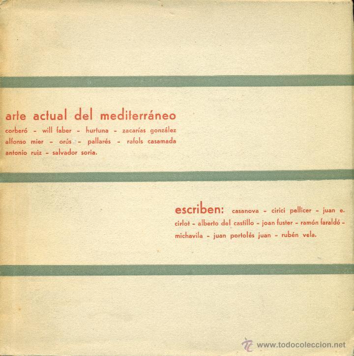 ARTE ACTUAL DEL MEDITERRÁNEO´CUADERNOS DEL MOVIMIENTO ARTÍSTICO DEL MEDITERRÁNEO Nº 2. VALENCIA 1960 (Arte - Catálogos)