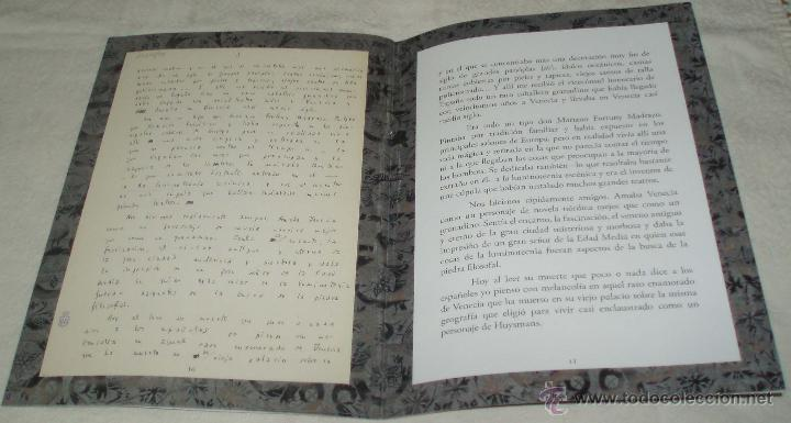 Arte: Otra muerte en venecia Mariano Fortuny Madrazo manuscrito de cesar gonzalez ruano - Foto 2 - 49165196