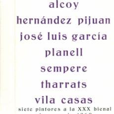 Arte: SIETE PINTORES A LA XXX BIENAL DE VENECIA 1960. GALERIA PRISMA. MADRID. Lote 49219098