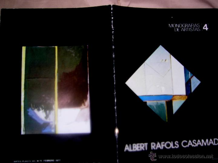 ALBERT RAFOLS CASAMADA. POR ARNAU PUIG. 1977. Nº4 .MONOGRAFIÍAS ARTISTAS. ENVÍO PAGO (Arte - Catálogos)