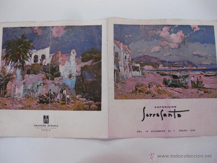 CATALAGO. EXPOSICION SERRASANTA. BARCELONA 1974. GALERIAS AUGUSTA (Arte - Catálogos)