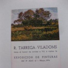 Arte: EXPOSICION DE PINTURAS. R. TARREGA - VILADOMS. GALERIAS AUGUSTA BARCELONA 1974. Lote 49361200