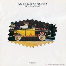 Arte: AMERICA SANCHEZ. TRIPTICO EXPOSICIÓN CAIXA DE BARCELON 1984. PRIMAVERA FOTOGRAFICA.. Lote 49479380