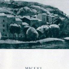 Arte: MIGUEL VILLA. DIPTICO SALA PARES. BARCELONA 20X 13,5 CM. 1967. Lote 49654361