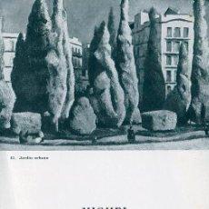 Arte: MIGUEL VILLA. DIPTICO SALA PARES. BARCELONA 20X 13,5 CM. 1970. Lote 49654513