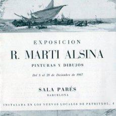 Arte: MARTI ALSINA. DIPTICO EXPOSICIÓN SALA PARÈS. BARCELONA. 1967. Lote 49654626