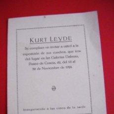 Art - KURT LEYDE - GALERIAS DALMAU - 1924 - 49689139