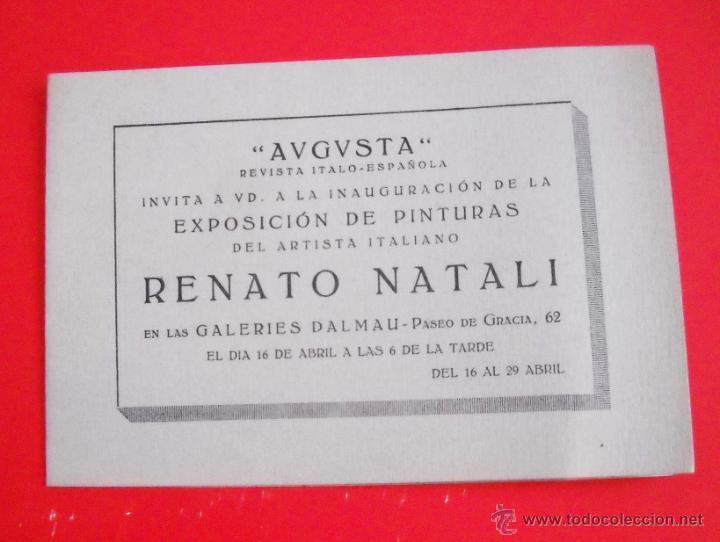 RENATO NATALI – GALERIAS DALMAU – 1920'S – DÍPTICO (Arte - Catálogos)