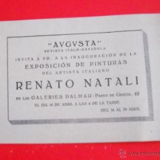 Art - RENATO NATALI – GALERIAS DALMAU – 1920'S – DÍPTICO - 49689154