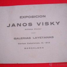 Arte: JANOS VISKY - GALERIAS LAYETANAS – 1928 – DÍPTICO . Lote 49689175