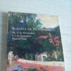 Arte: CATÁLOGO SUBASTA 262 FERNANDO DURAN 29,30NOVIEMBRE-1DICIEMBRE 2004. Lote 50060583
