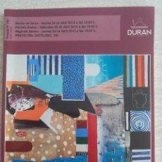 Arte: CATÁLOGO DURAN ARTE SUBASTA 483 ABRIL 2012. Lote 50060984