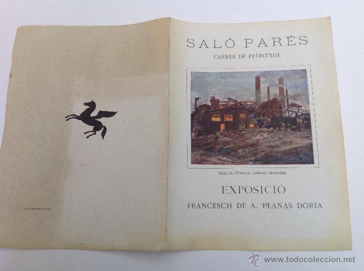 SALÓ PARÉS. CARRER DE PETRITXOL. EXPOSICIÓ PLANAS DORIA. BARCELONA 1926 (Arte - Catálogos)