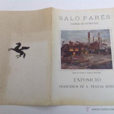 Arte: SALÓ PARÉS. CARRER DE PETRITXOL. EXPOSICIÓ PLANAS DORIA. BARCELONA 1926. Lote 50119202