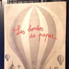 Arte: LES BOMBES DE PAPER - FUNDACIÓ JOAN MIRÓ - TRÍPTICO - 1978. Lote 50121303