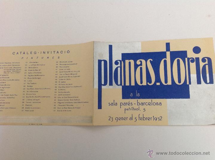 SALA PARÉS. CARRER PETRITXOL. EXPOSICIÓ PLANAS DORIA. BARCELONA 1932 (Arte - Catálogos)