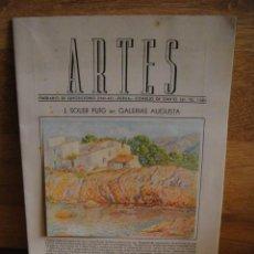Arte: REVISTA ARTE - ITINERARIO DE EXPOSICIONES 1941 - 42. Lote 50398908