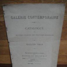 Arte: CATALOGUE DES OUBRES DES PEINTRES MODERNES - SALON 1913 - BRAUN & CIE - AÑO 1913. Lote 50826678