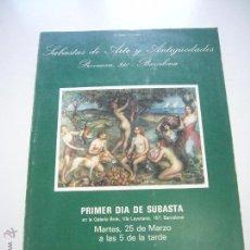 Arte: CATALOGO SUBASTAS ARTE ANTIGUEDADES 1980 GALERIA BROK VALENTI XG7. Lote 50857806