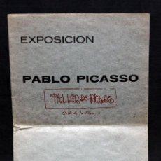 Arte: DIPTICO DE LA EXPOSICION DE PABLO PICASSO CELEBRADA EN BARCELONA EL AÑO 1971. TALLER DE PICASSO. Lote 51330678