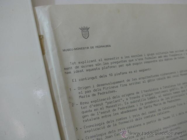 Arte: gigante libro de laminas de monasterio de pedralbes de catalunya, arte y historia. bibliofilo - Foto 5 - 51486465