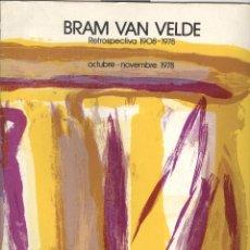 Arte - Bram Van Velde. catálogo retrospectiva Galeria Maeght 1978. - 51680291