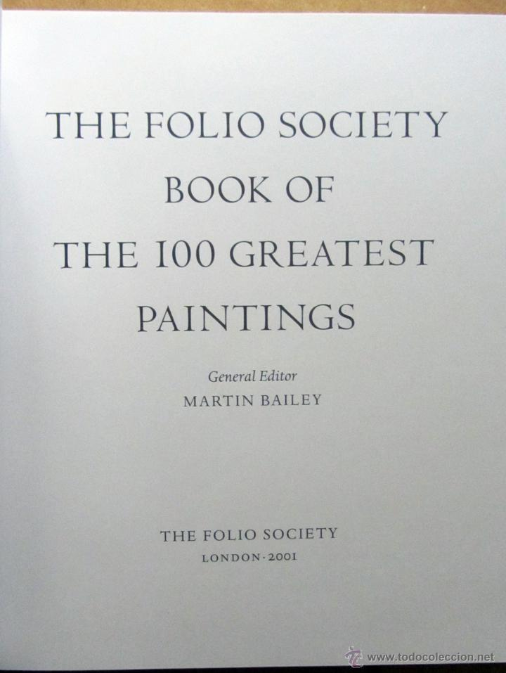 Arte: The Folio Society Book of the 100 Greatest Paintings (Inglés) - Foto 3 - 52030827